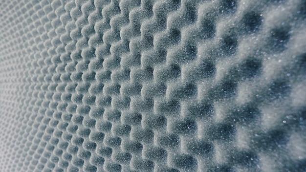 Feuille absorbante de couleur grise et matériau très doux pour studio d'enregistrement sonore professionnel.