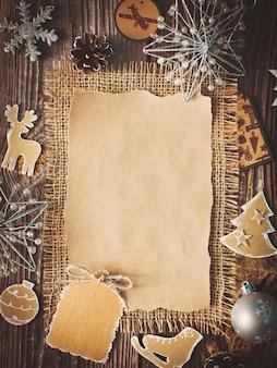 Feuille blanche pour les voeux du nouvel an