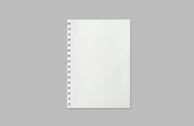 Feuille blanche de la texture du papier pour le fond avec un tracé de détourage.