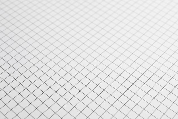 Feuille de cahier avec texture de grille comme espace, espace pour le texte