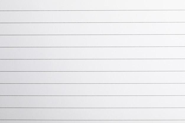 Feuille de cahier avec texture horizontale comme espace, espace pour le texte