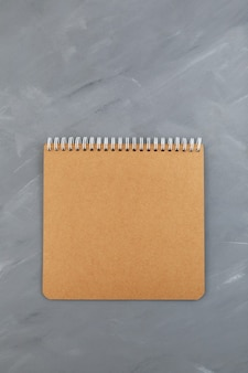 Feuille de carton pour cahier à spirale vierge, marron sur gris
