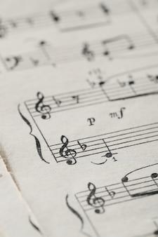 Feuille de notes de musique