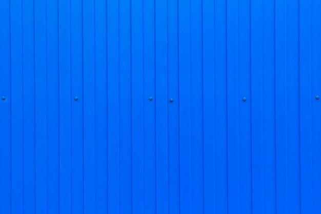 Feuille ondulée en métal bleu