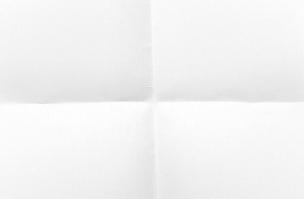 Feuille de papier carrée pliée a4, maquette. feuille vierge comme modèle, espace pour le texte.