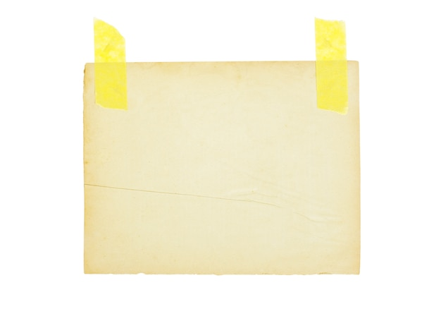Feuille de papier vieilli