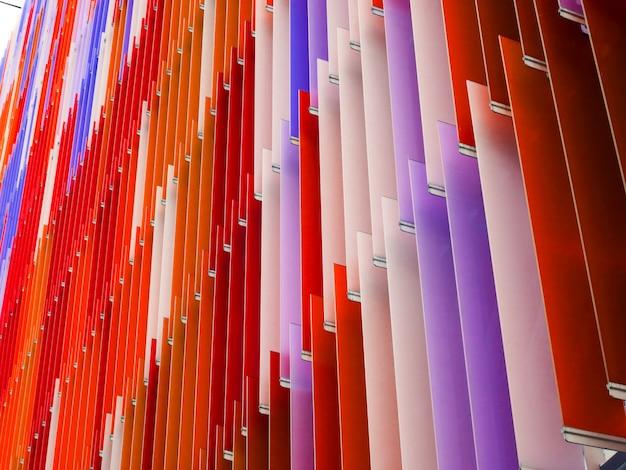 Feuille de plastique acrylique ligne de pente intérieure et couleur orange violet rouge
