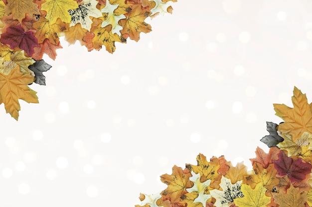Feuilles d'automne modèle de cadre d'angle