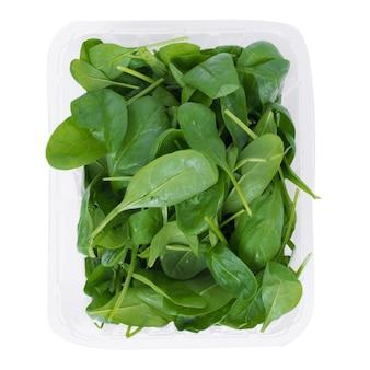 Feuilles d'épinards verts