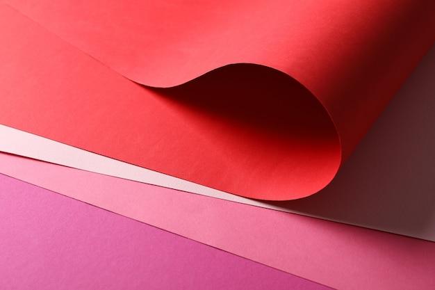 Feuilles multicolores texturées, gros plan. abstrait