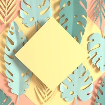 Feuilles de palmier en papier tropical
