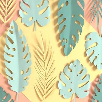 Feuilles de palmier à papier tropical