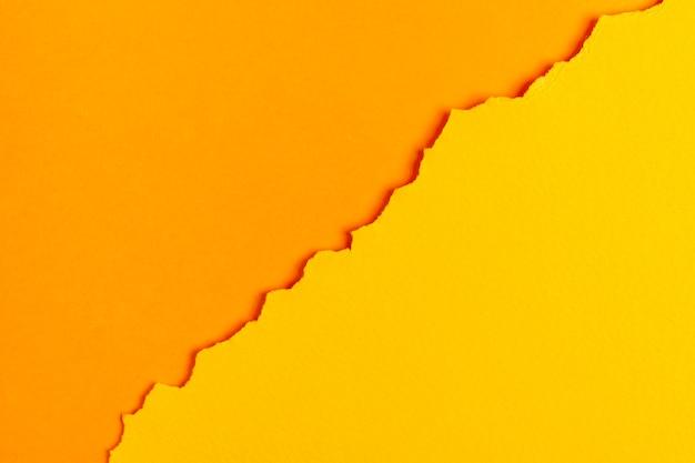 Feuilles de papier ton sur ton orange