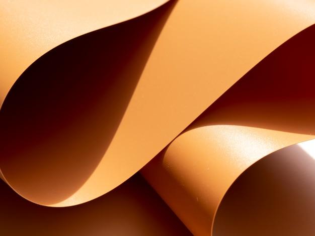 Feuilles de papier vintage courbes