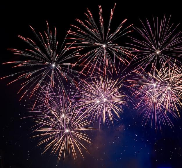 Feux d'artifice de célébration du nouvel an