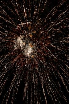 Feux d'artifice colorés sur le ciel noir. fête de l'indépendance, le 4 juillet.