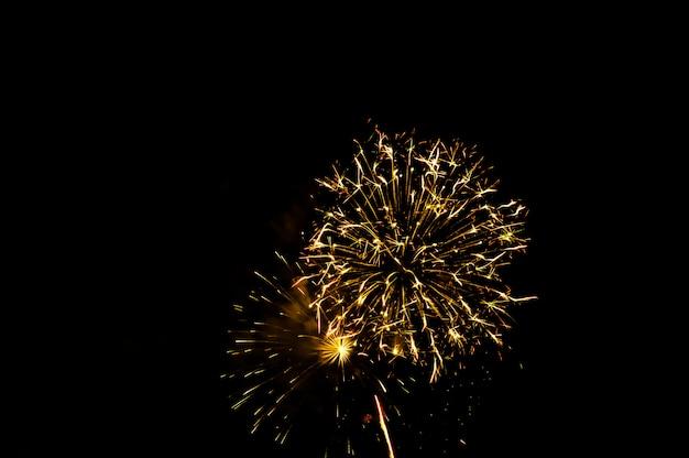 Des feux d'artifice illuminent le ciel