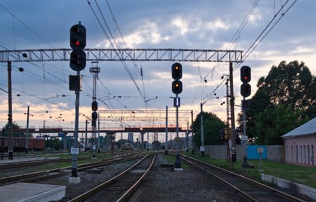 Feux de circulation ferroviaire en ukraine