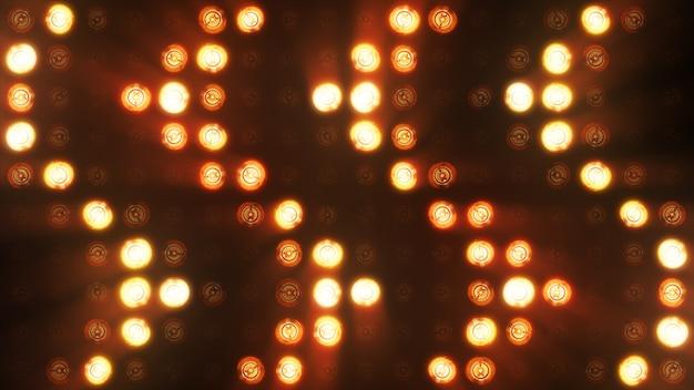 Feux clignotants ampoule projecteur lumières d'inondation flèche vj led stage de mur