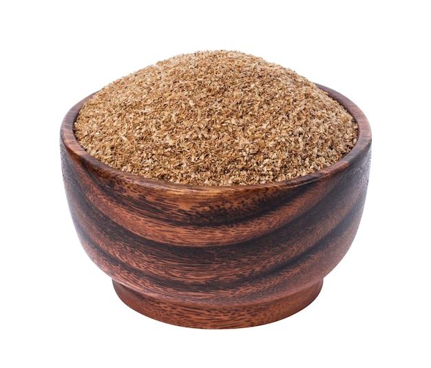 Fibre alimentaire, fibre de sol sec isolé sur blanc