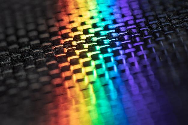 Fibre de carbone aux couleurs arc-en-ciel