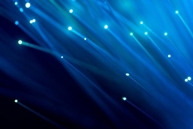 Fibre optique, abstrait et arrière-plan flou