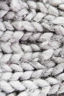 Fibres douces avec motif tricoté