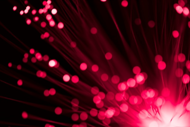 Fibres optiques focalisées et floues