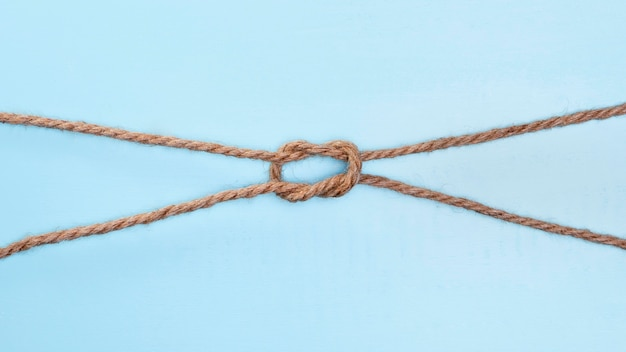 Ficelle solide corde beige double noeud