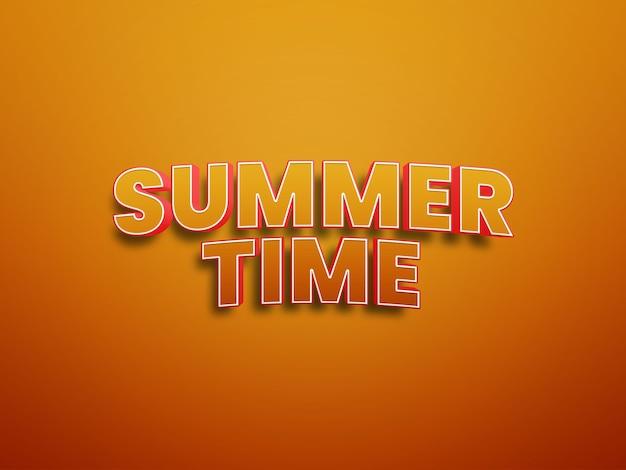 Fichier d'effets de texte psd de l'heure d'été