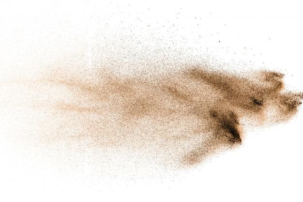 Figer le mouvement de l'explosion de poussière brune