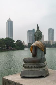 Figure de bouddha avec des horizons