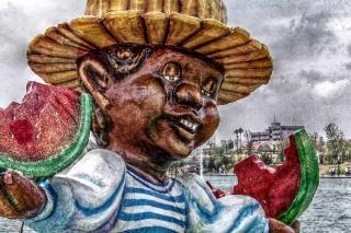 Figure de carnaval mâché