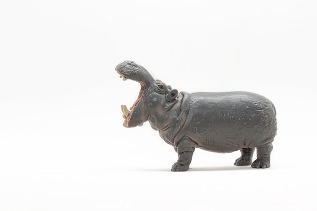 Figurine miniature d'un hippopotame jouet
