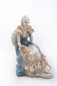 Figurine en porcelaine en forme de princesse
