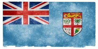 Fiji drapeau grunge