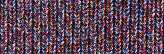 Fil à tricoter main travail concept closeup fond.