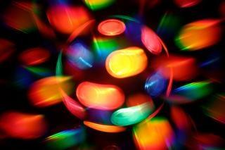 Filer lampe discothèque abstrait rond