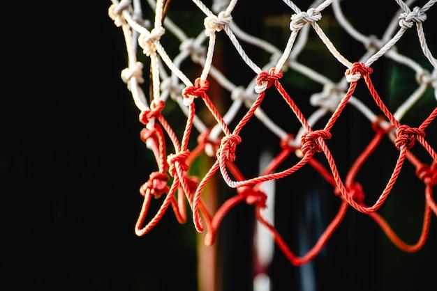 Filet de basket bricolage, vieille corde, avec espace de copie