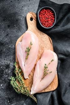 Filet de poitrine de poulet cru frais, viande bio