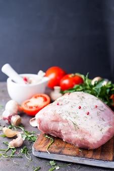 Filet de porc frais