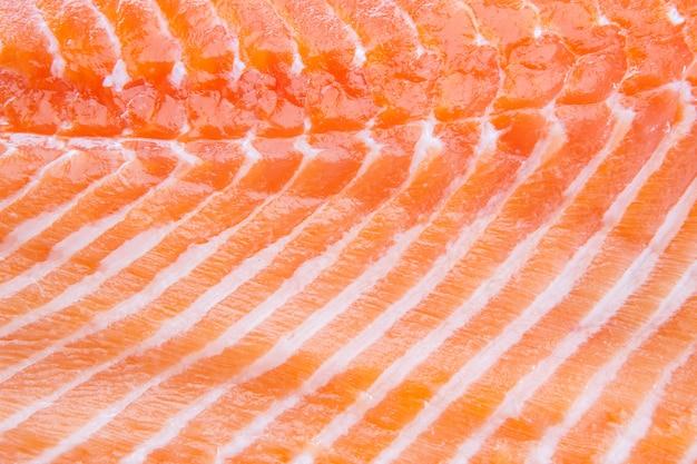 Filet de saumon rouge frais closeup