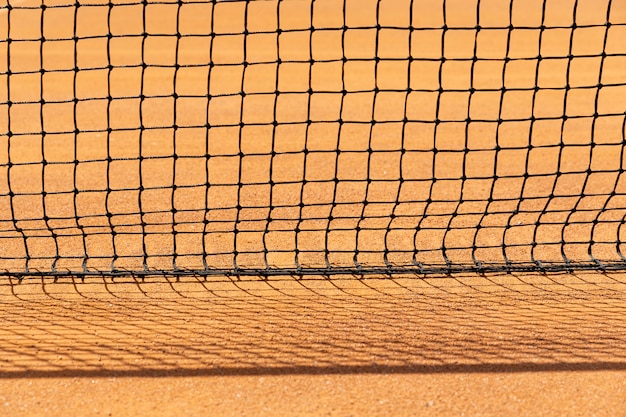Filet de tennis en gros plan