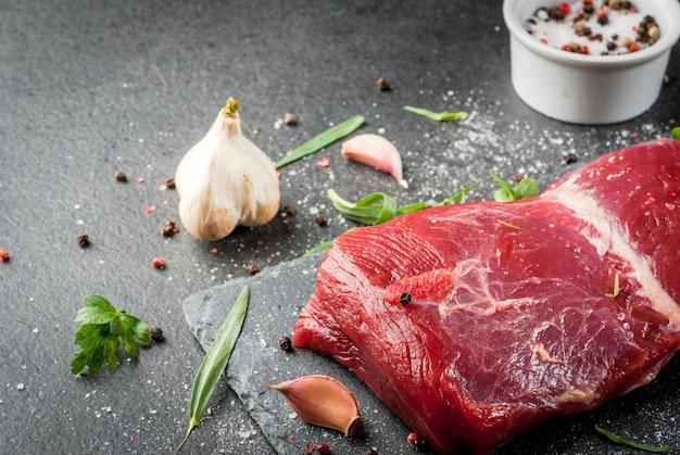 Filet de viande de boeuf cru