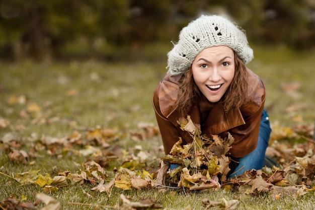Fille en automne