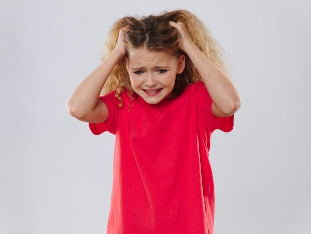 Fille enfant posant portrait