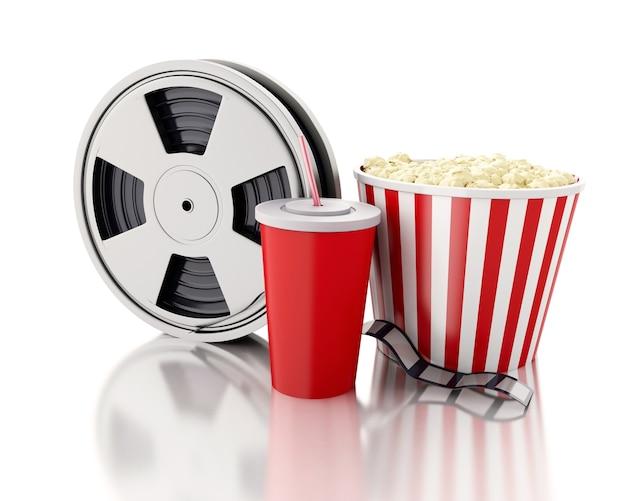 Film 3d, pop-corn et boisson.