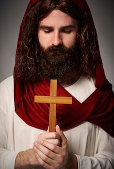 Fils de dieu avec symbole religieux