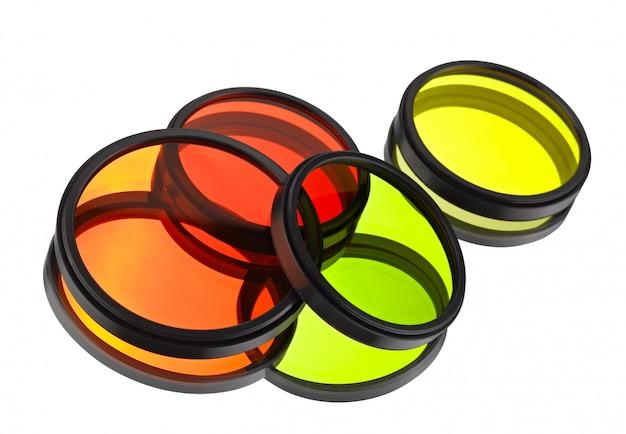 Filtres de couleur pour les lentilles sur le blanc