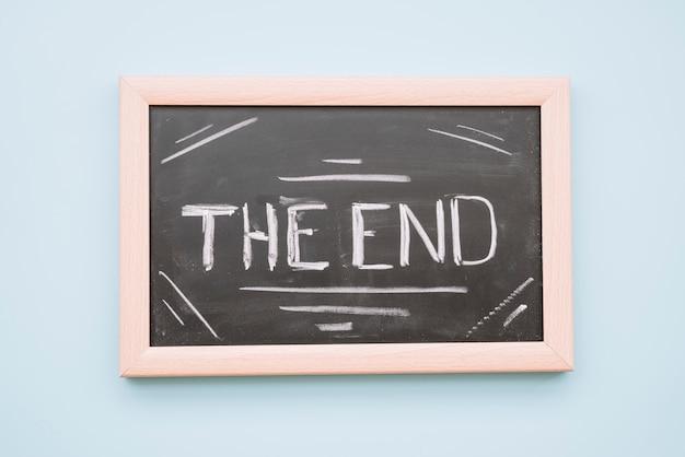 La fin des lettres sur un tableau